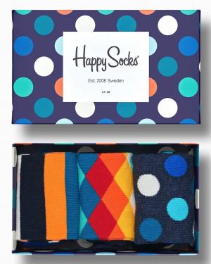BOX 3-PACK HAPPY SOCKS
